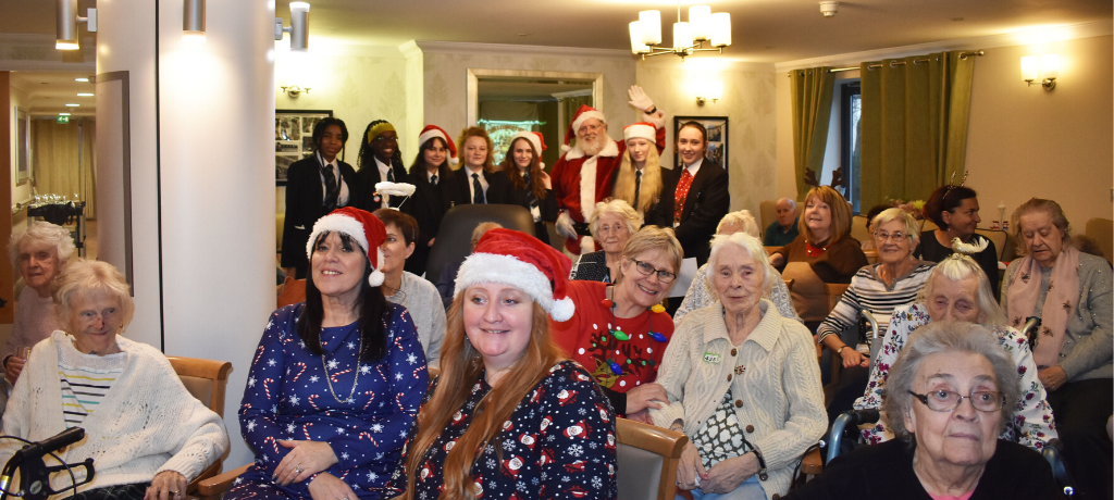 Pupils bring Festive Cheer to a local Care Home