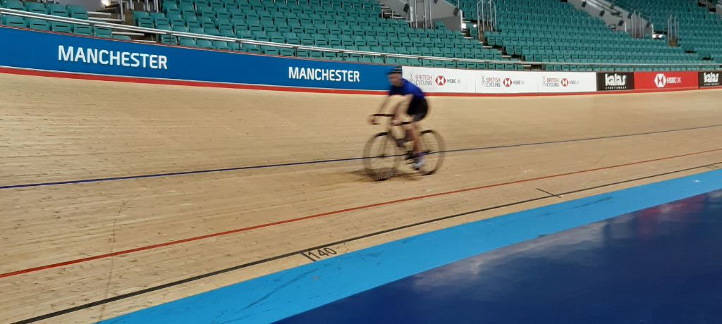 Pupils race to the finish line at Manchester's Velodrome