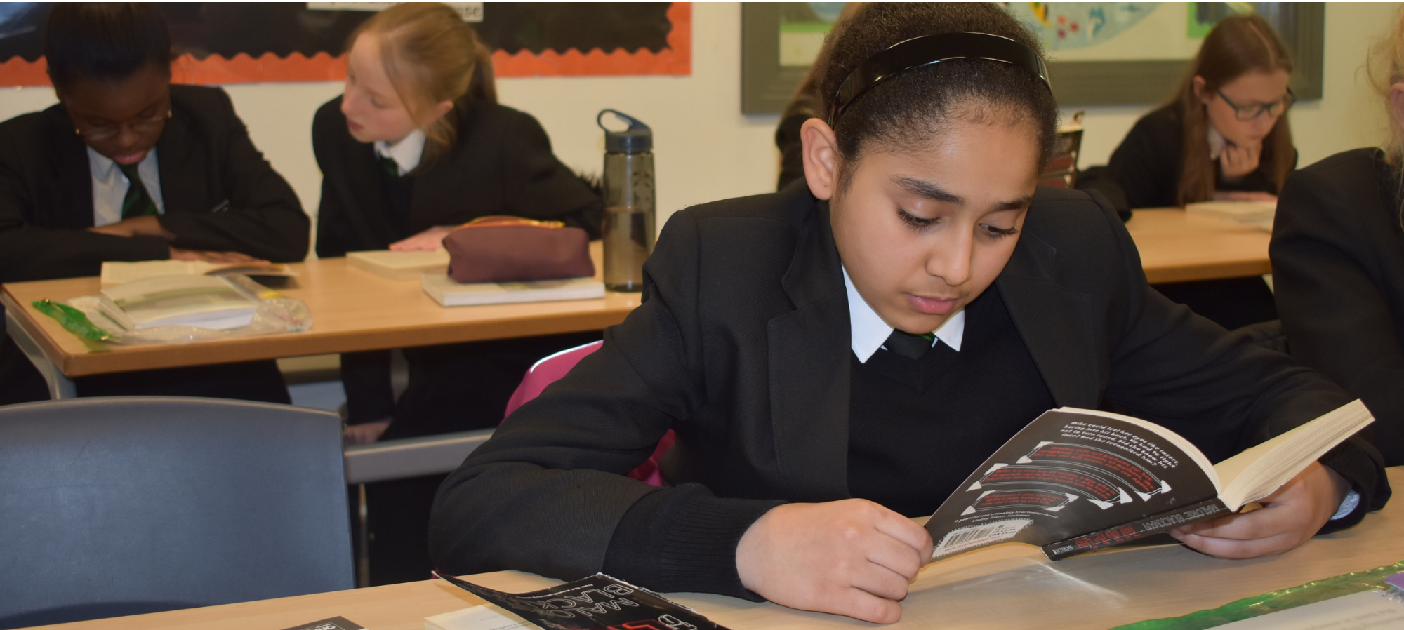 Pupils have finished their first book as part of their new timetabled reading lessons
